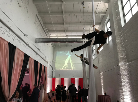 Projection at The Madison launch party