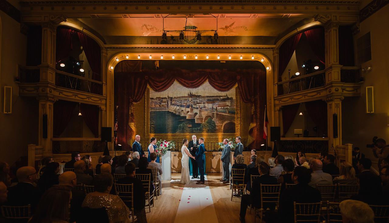 Elissa & Matt's Wedding at the Bohemian National Hall with DJ Shawn Brewster.