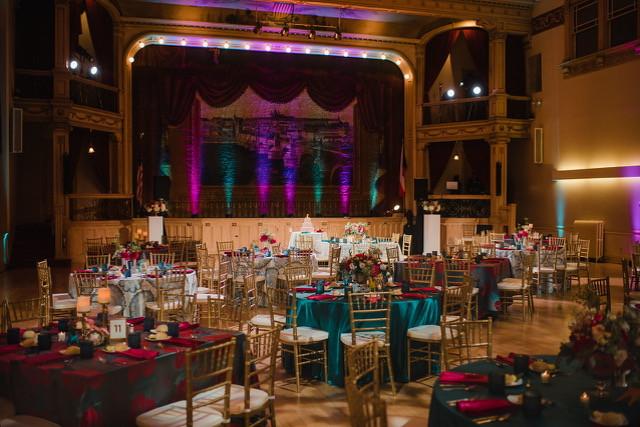 Wedding lighting at the Bohemian National Hall