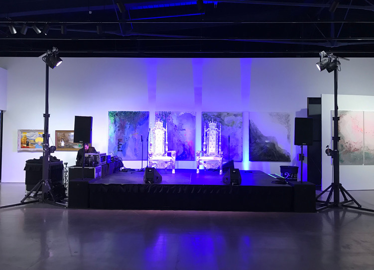 Stage lighting at MOCA Cleveland
