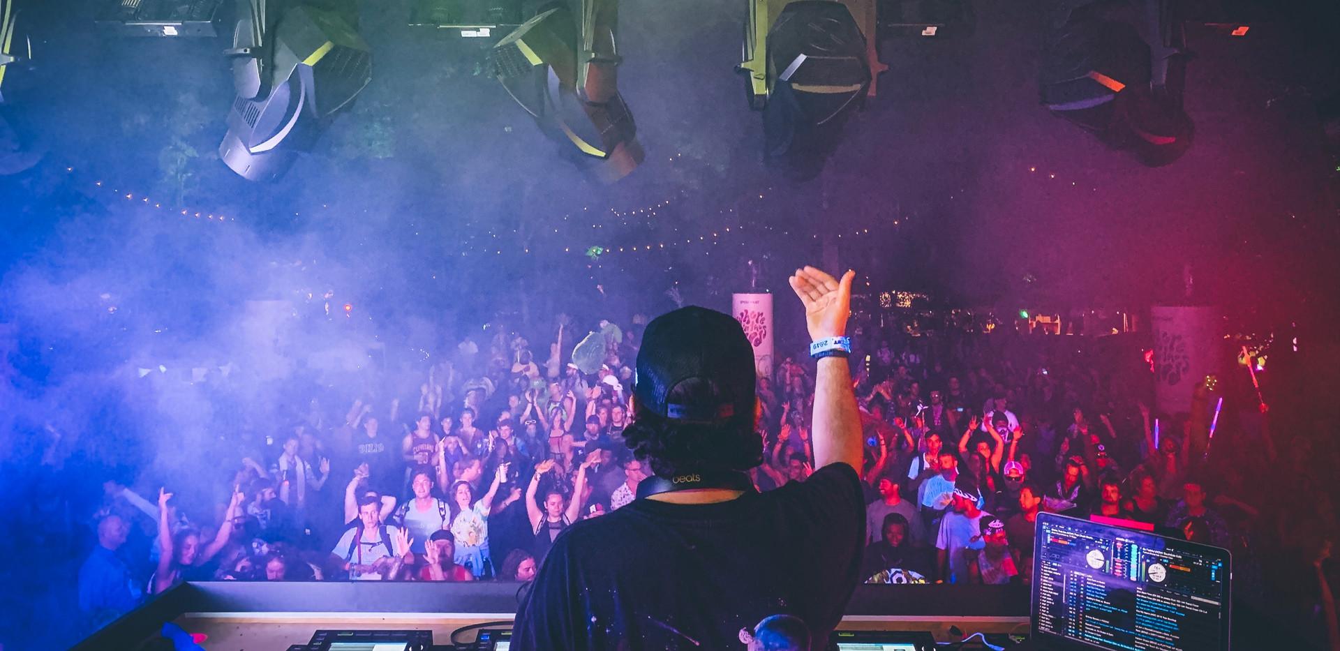 DJ E-V at Bonnaroo