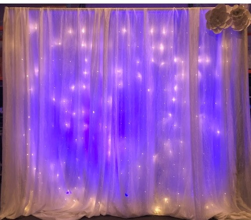 Backdrop with Light Curtain