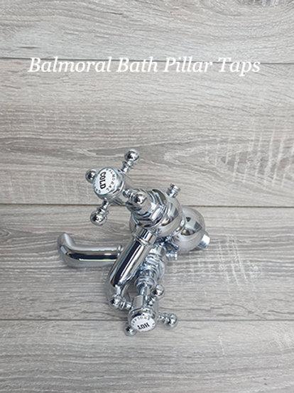 Balmoral Bath Pillar Taps