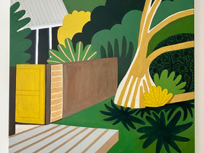 """Come For Tea At The House With The Pandanus Tree"" /// artist's thoughts"