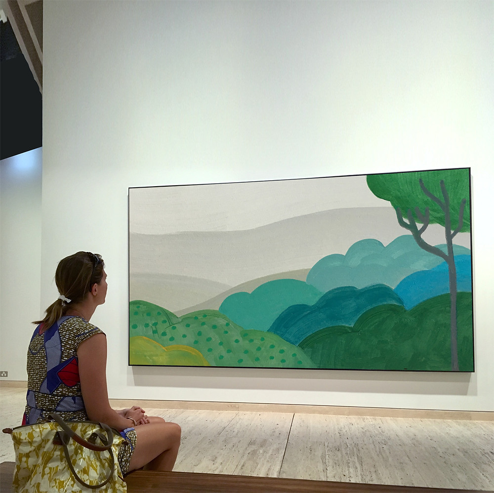 gallery painting with viewer