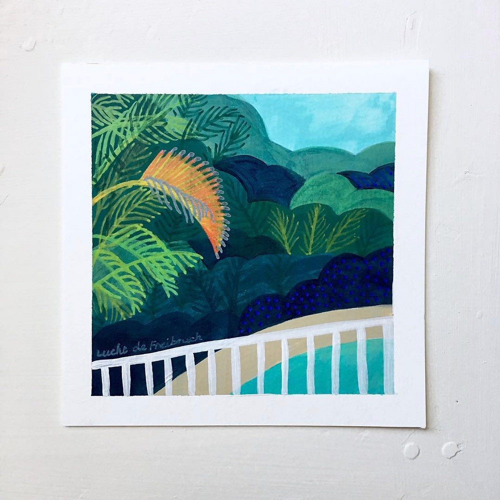 Palm frond painting