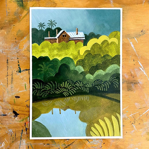A River Runs Past It - Original Painting