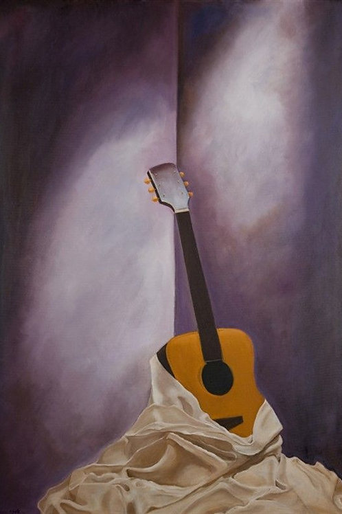Guitar Painting - The Silent Sounds