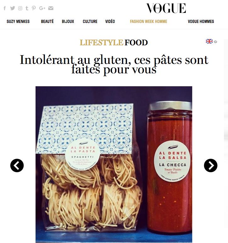 Vogue : Al Dente La Pasta