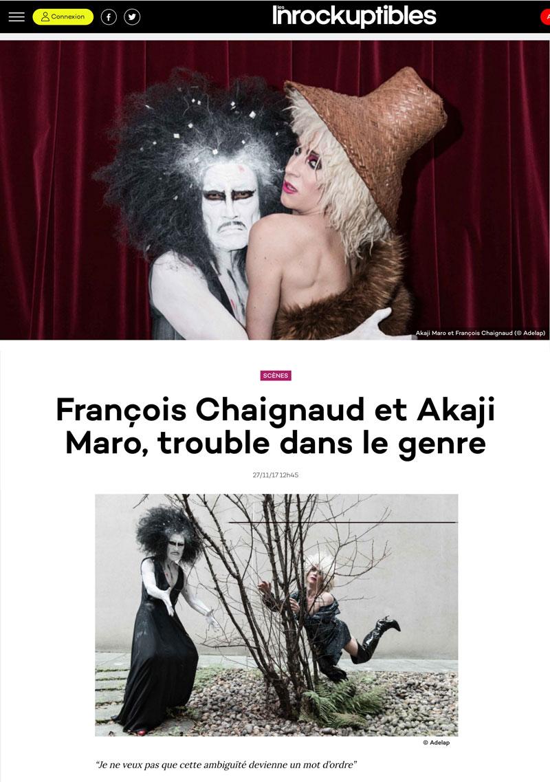 François Chaignaud et Akaji Maro