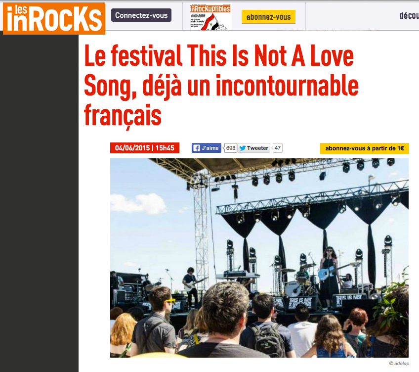 This Is Not A Love Song//Les inrocks