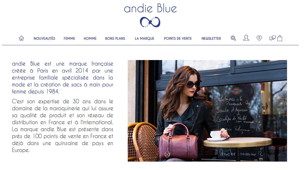 Campagne Andie Blue
