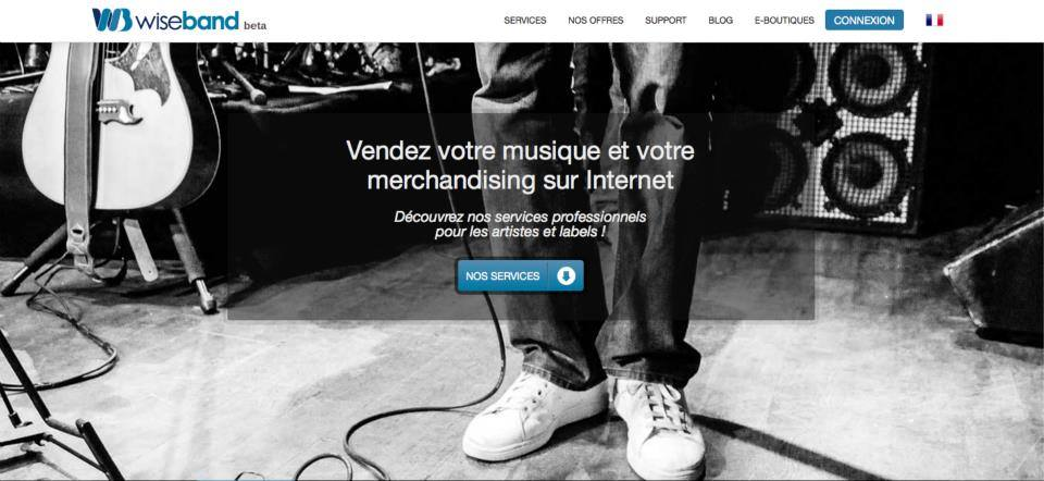 Wiseband / page accueil