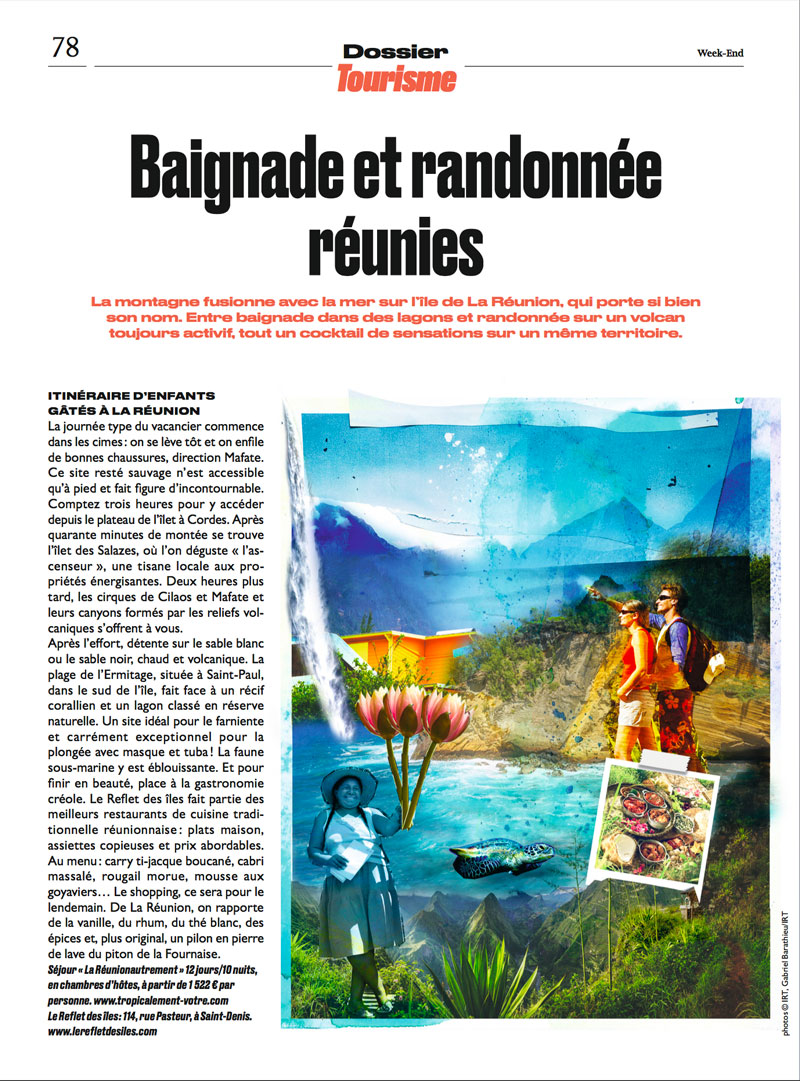 photomontage pour le Parisien Mag
