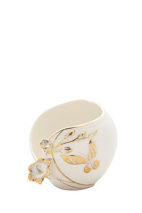 Porselen Kelebek Desenli Kase