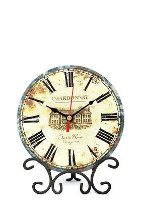 Ferforje Ayaklı Masa Saati