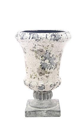 Terracotta Çiçekli Vazo / Saksı