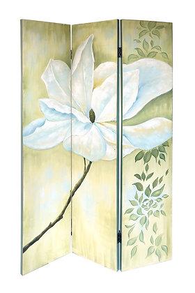 El Boyama Çiçek Desenli Kanvas Paravan