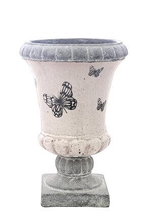 Terracotta Kelebekli Vazo Küçük Boy