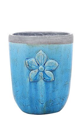 Terracotta Turkuaz Vazo / Saksı