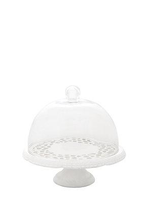 Cam Kapaklı Beyaz Porselen Servis