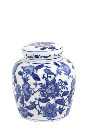 Bleu Blanc Dekoratif Kavanoz