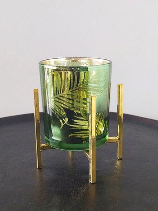 Palmiye Yapraklı Cam Mumluk