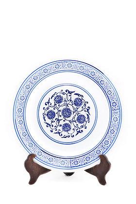 Bleu Blanc Dekoratif Tabak