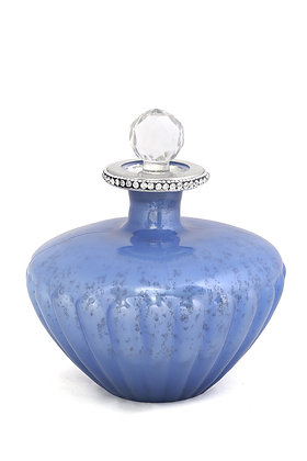 Mavi Kristal Taşlı Dekoratif Cam Şişe