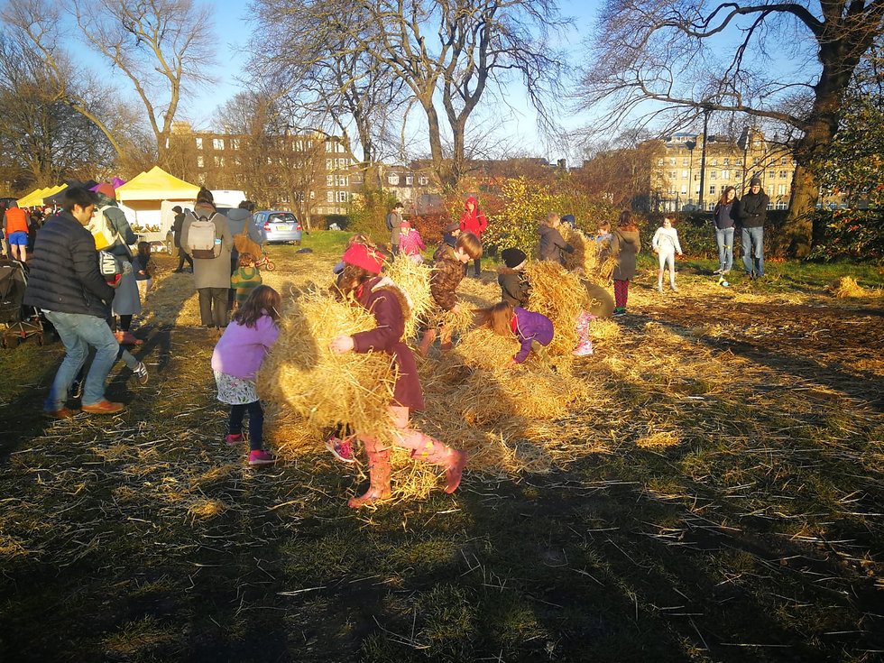 Community wellbeing on the Croft - a haybale fight!