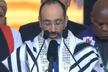 The Chief Rabbi Opens Official Nelson Mandela Memorial Service