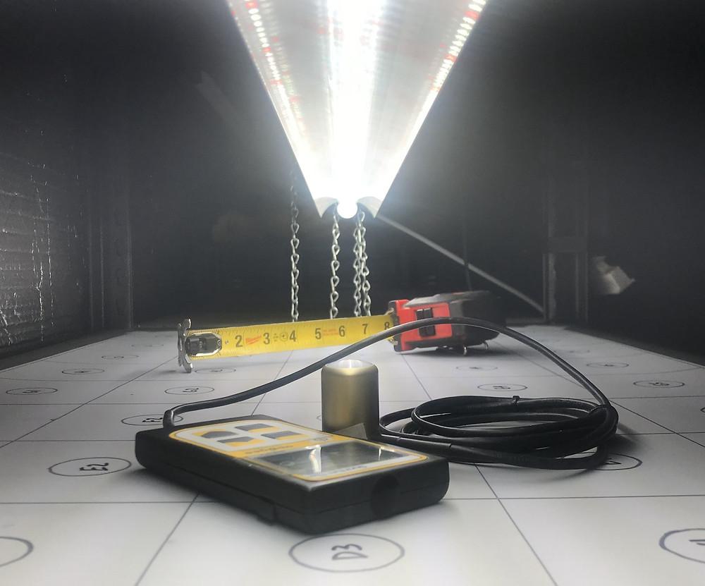Light intensity of LED grow light