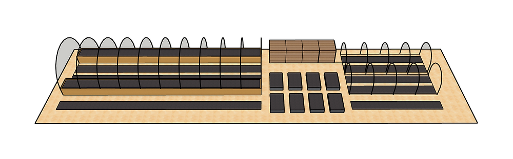 drawing of garden beds