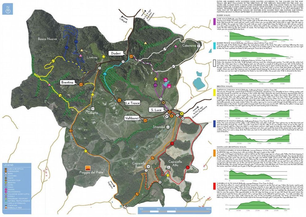 Barbialla Nuova Trail Map
