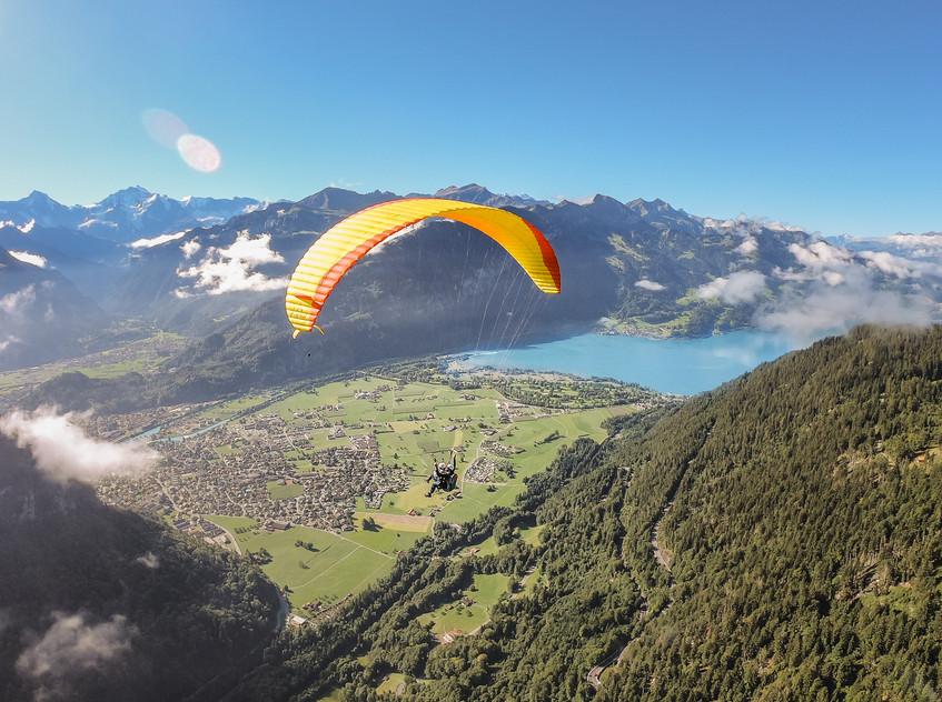 Lindsay Paragliding Over Interlaken