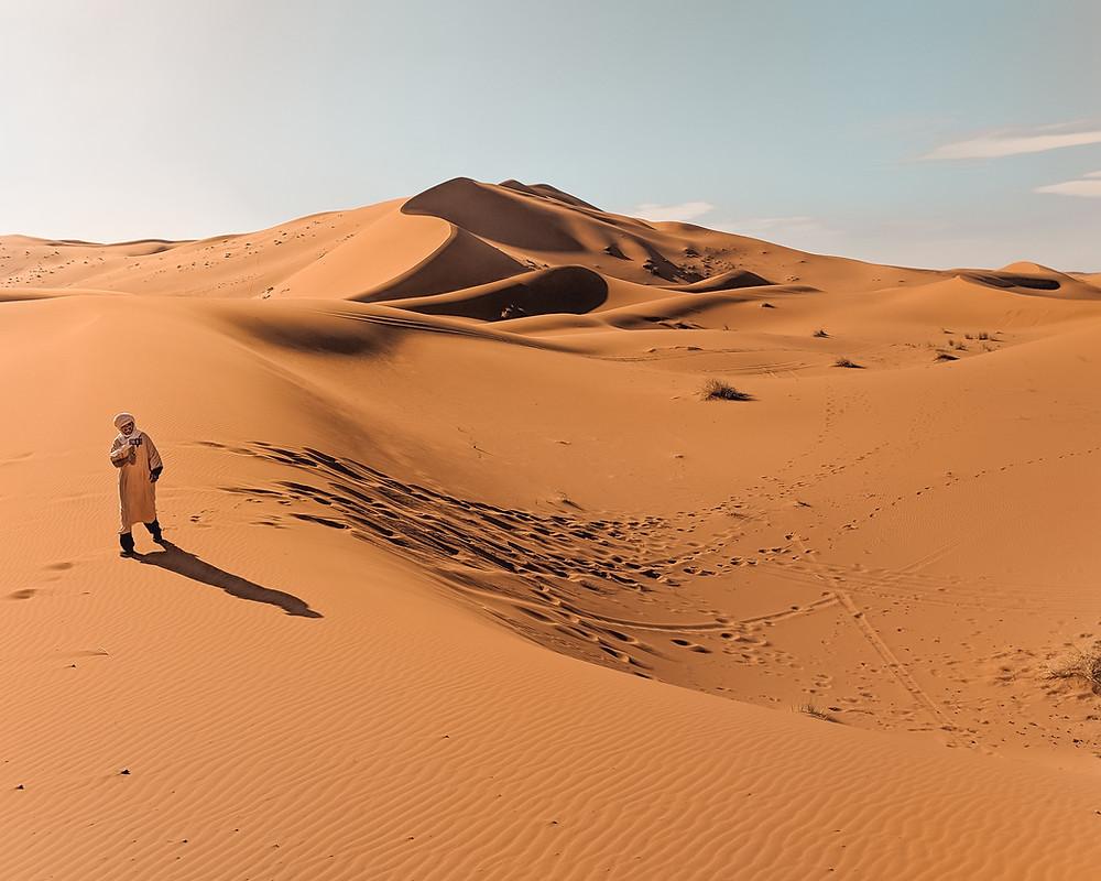Berber Nomad in Sahara Desert