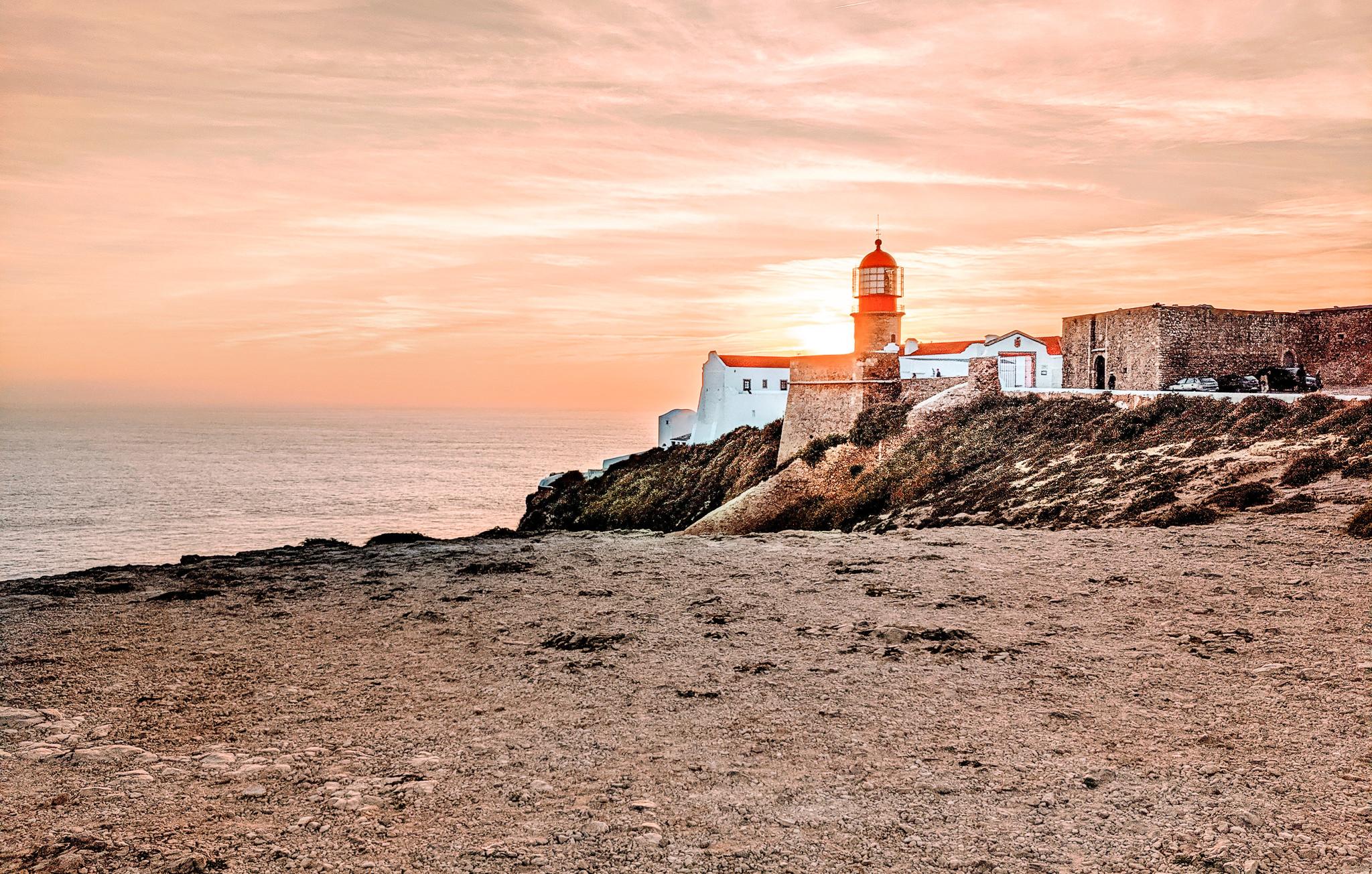 Lighthouse of Cabo de São Vicente at Sunset