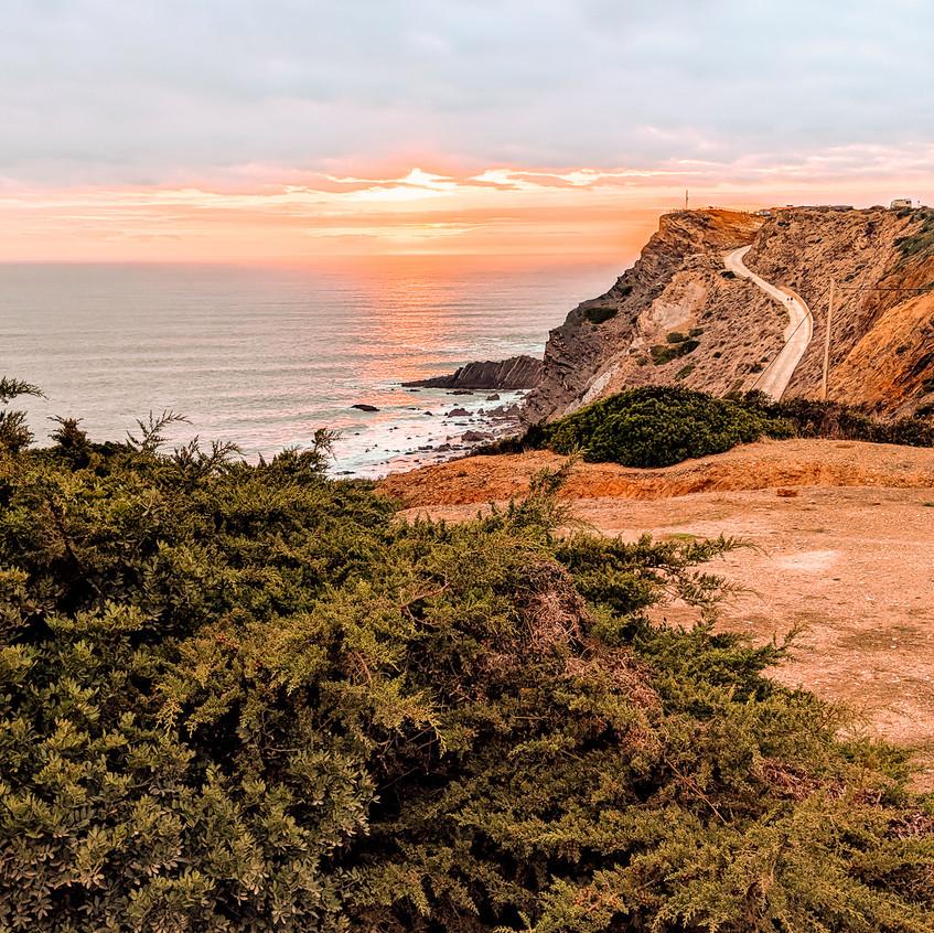Algarve Coast at Sunset