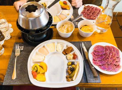 Meat Fondue Plate