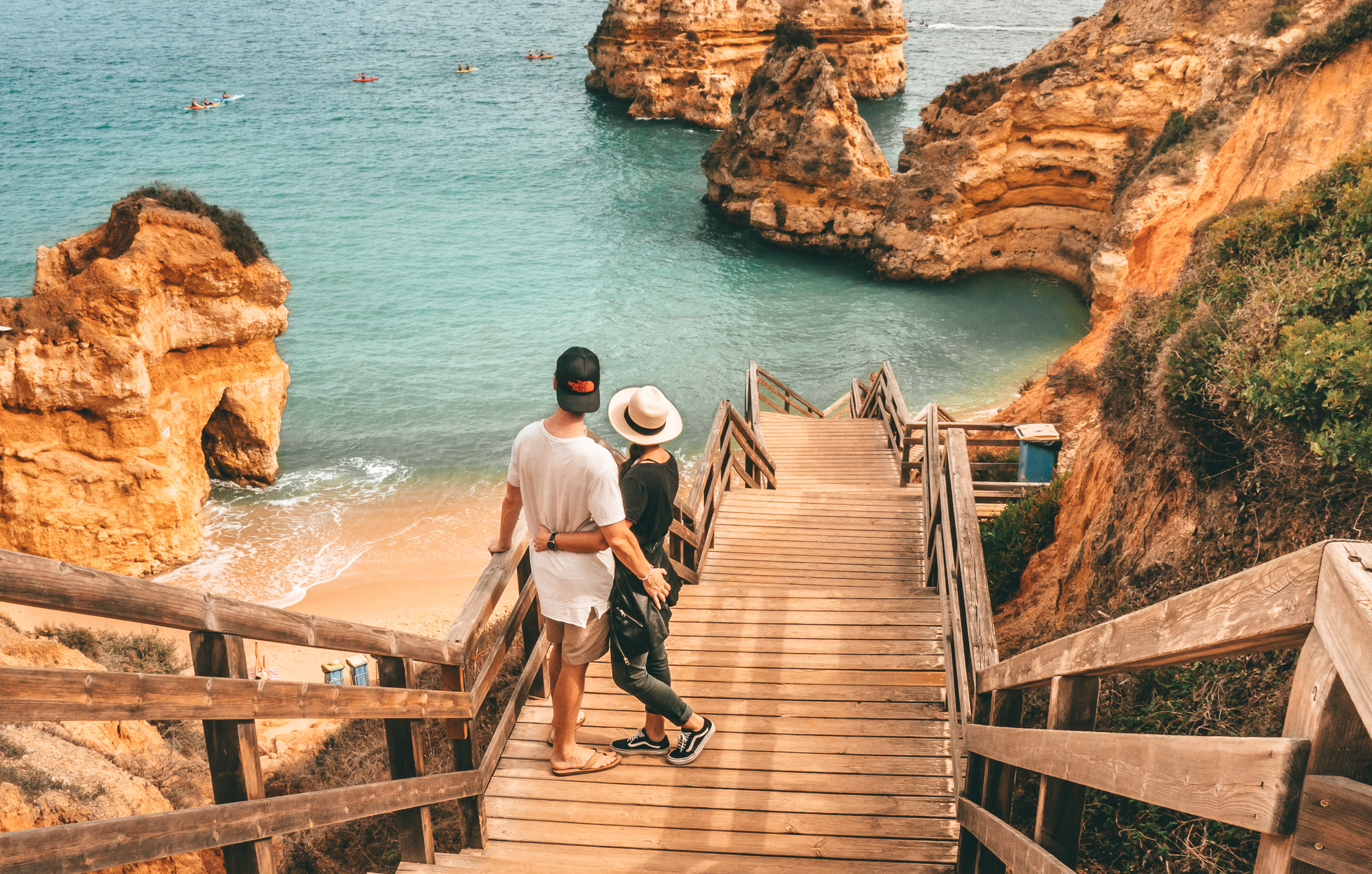 Praia do Camilo Stairs with Lindsay & Alexis