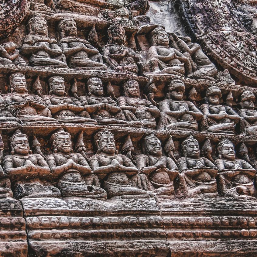 Angkor Temple Lintel Carvings