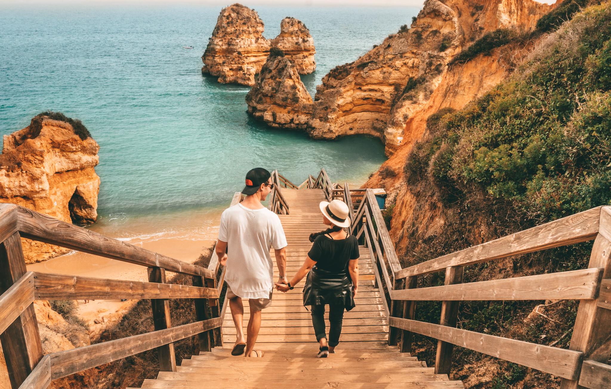 Algarve Coast Beach Stairs