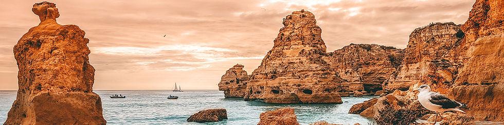 Algarve Coast at Suset