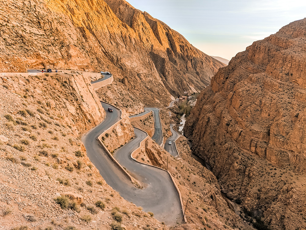 Dades Valley Winding Road