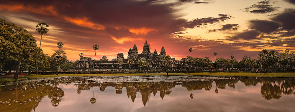 Angkor Wat Reflection Pond Sunrise