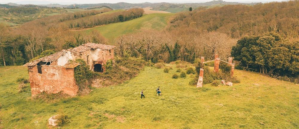 Tuscany Farm - Barbialla Nuova Aerial Shot