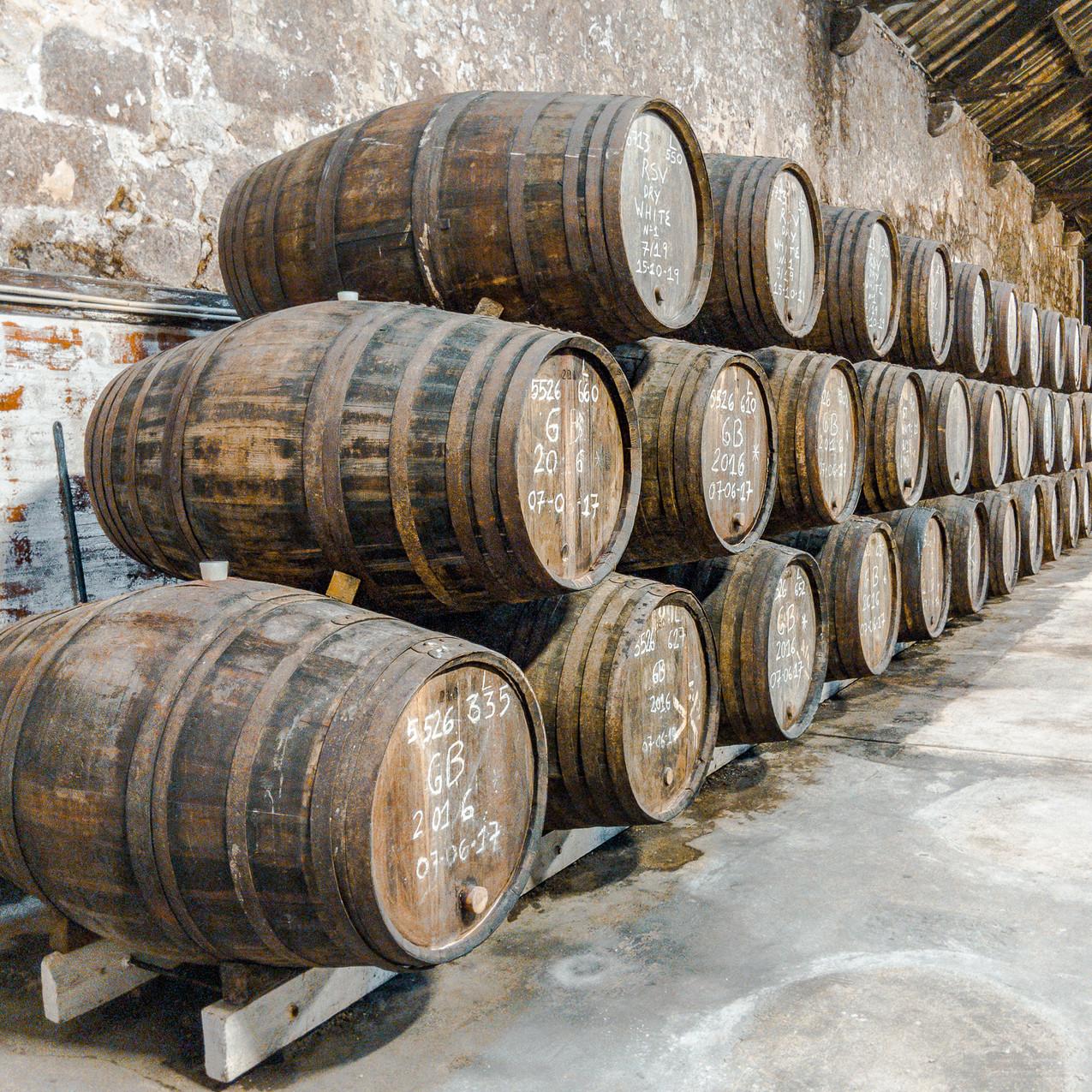 Port Barrels in Aging Room