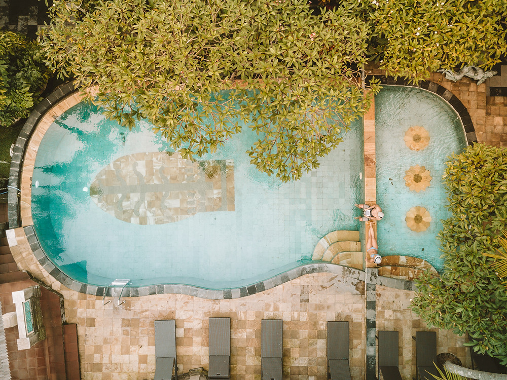 Casa Luna Pool from Drone