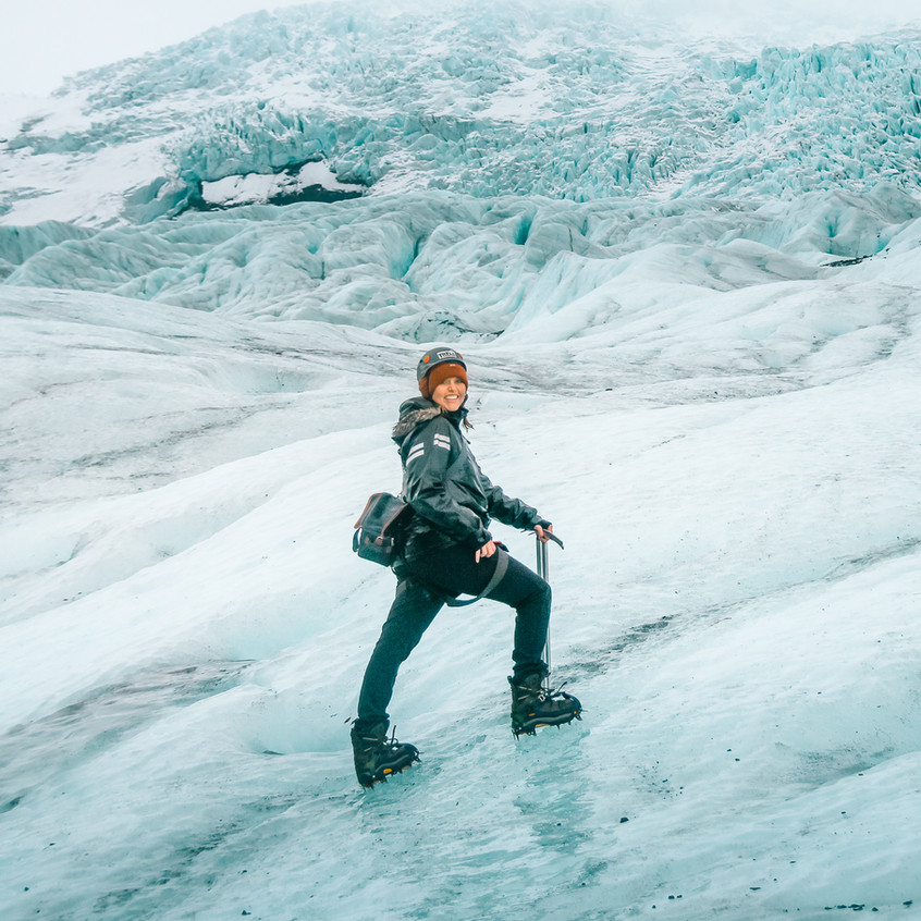 Tati on Skaftafell Glacier