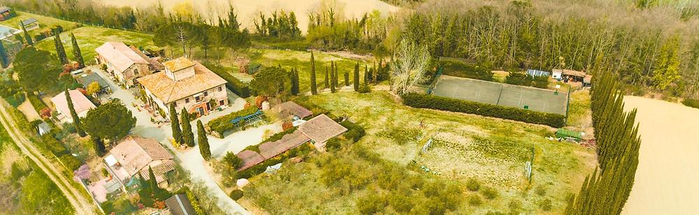 Tuscany Farm - Il Grande Prato Aerial Shot